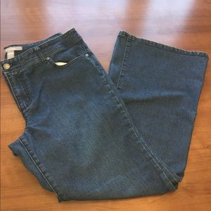 Chico's Jeans Flared Leg Embroidered Detail Pocket